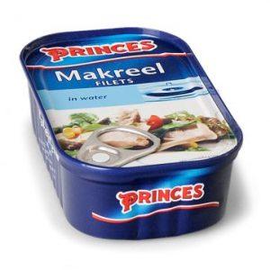 Princes makreel in water (125gr) (10+2 stuks Gratis!)
