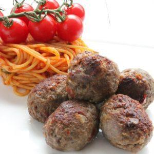 Beef meat-balls 1kg (5 x 200gr) (kant-en-klaar) (100% rundvlees) -0