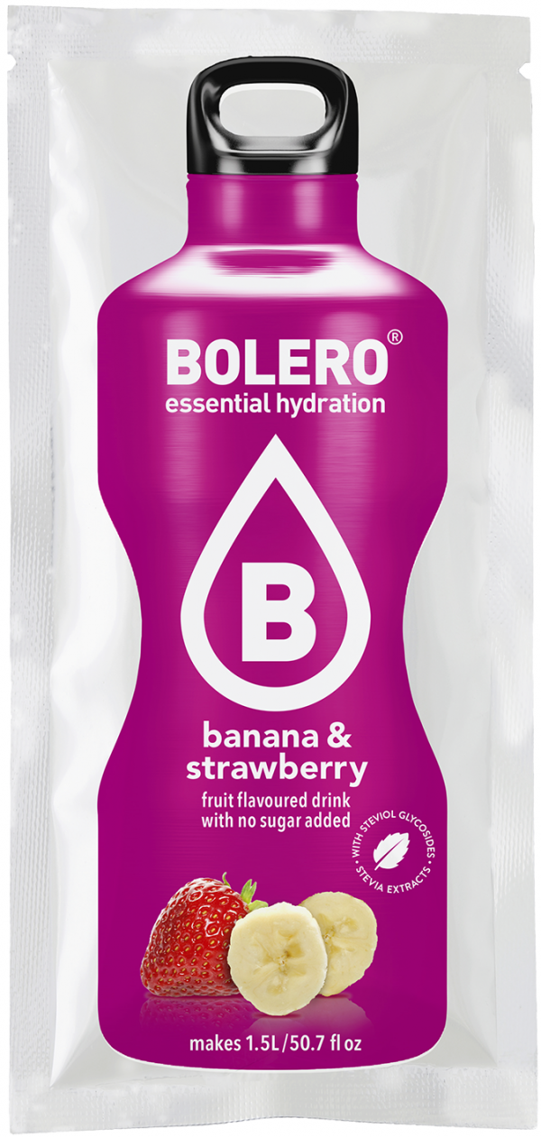 Bolero Banana & Strawberry (aanmaakpoeder voor 1,5L water)-0