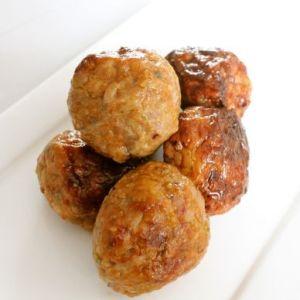 Chicken meat-balls Original 1kg (5 x 200gr) (kant-en-klaar) (100% kipfilet) -2092