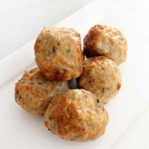 Sample chicken meat-balls Vadouvan 200gr (kant-en-klaar) (100% kipfilet) -2093