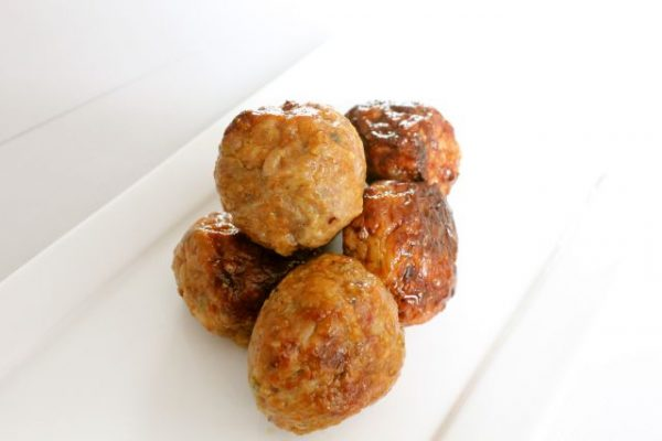 Chicken meat-balls Original 1kg (5 x 200gr) (kant-en-klaar) (100% kipfilet) -0