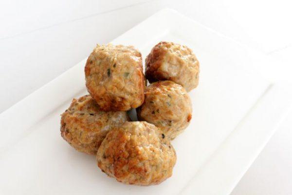 Sample chicken meat-balls Vadouvan 200gr (kant-en-klaar) (100% kipfilet) -0