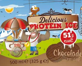 Delicious Protein Ice 500ml (chocolade smaak) (51gr eiwit) (Lab tested)-1838