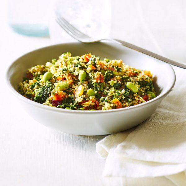 Bruine rijst - Quinoa - Groente pan (1kg) (kant-en-klaar)-2277