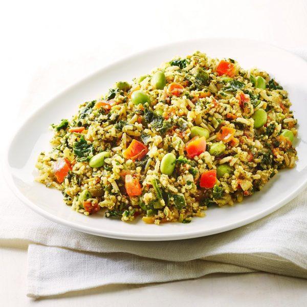 Bruine rijst - Quinoa - Groente pan (1kg) (kant-en-klaar)-0