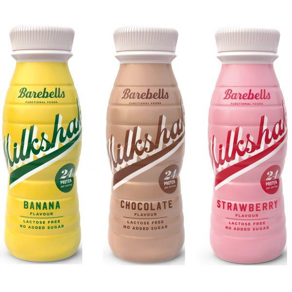 Milkshake - Barebells (24gr eiwit, LACTOSE VRIJ) (4 smaken)-0