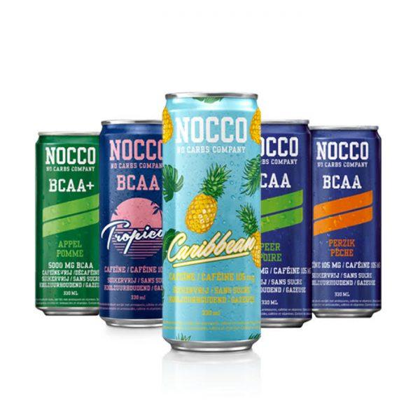 Nocco BCAA Drink (330ml met en zonder cafeïne) (5 smaken)-0