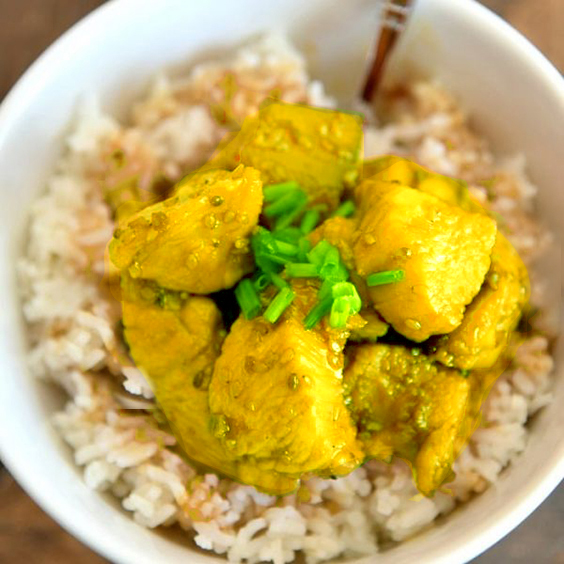 Roasted kipfiletblokjes - Lemon Curry (2.5kg IQF)-0