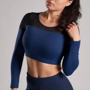 LONG SLEEVE CROP TOP XXL NUTRITION (2 KLEUREN)-0