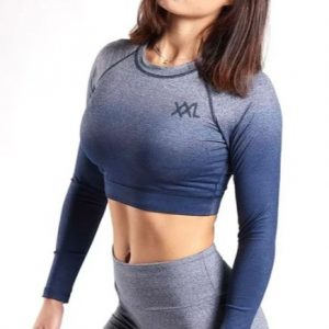 LONG SLEEVE CROP TOP FADE OUT XXL NUTRITION (3 KLEUREN)-0