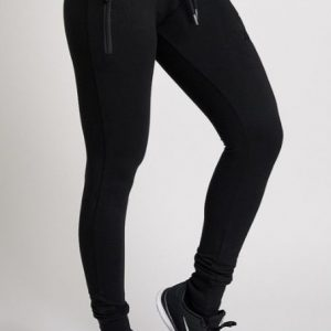WOMEN STRETCH JOGGER XXL NUTRITION - BLACK-0